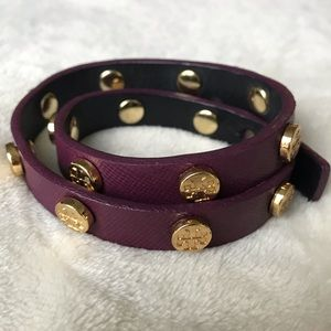Purple Tory Burch wrap bracelet